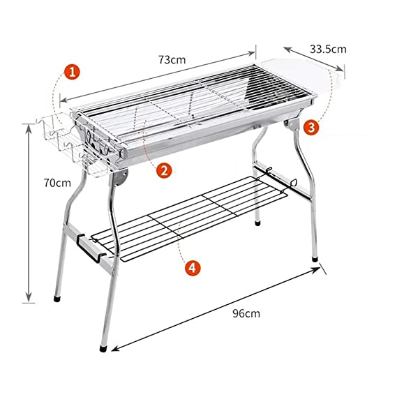 Amazon.com: YL-light Portatiles Garden Gril Asador Parrilla ...