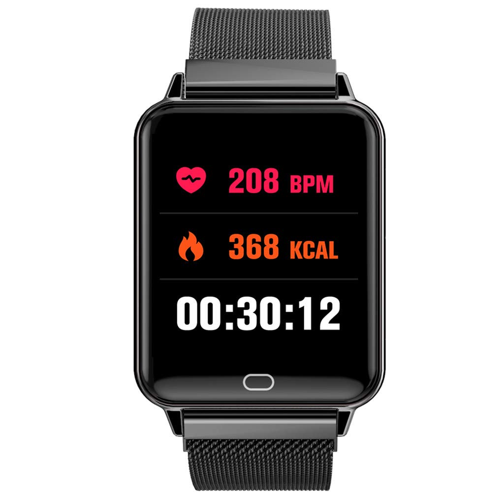 YNAA for Android iOS, Waterproof Smart Sport Watch, Blood Pressure Heart Rate Monitor Remote Photography Smart Bracelet (Black) by YNAA (Image #6)
