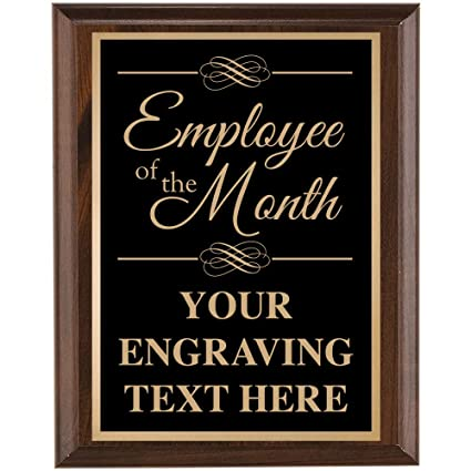 crown awards corporate employee recognition plaques 7 x 9 employee of the month classic black