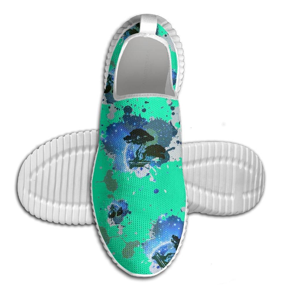 Bonsai Tree Icon Galaxy Men's Anti-Slip Loafers Lightweight Running Sneaker