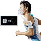 4WDKING Rechargeable Electrical Air Purifying Respirator, Reusable Portable Air Purifier with HEPA Filter and Total 12…