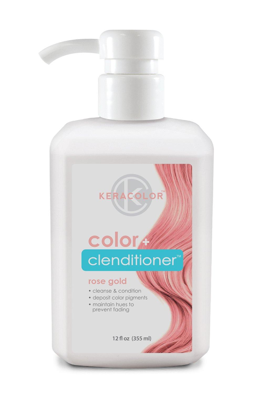 Keracolor Color Plus Clenditioner, Rose Gold, 12 Fluid Ounce