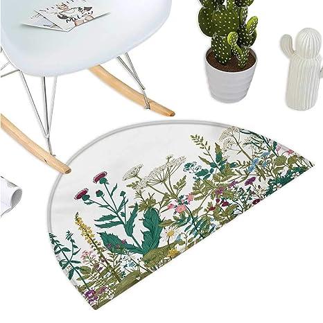 Amazon.com: Cojín semicircular de flores para jardín en la ...