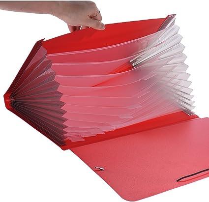 organizar cubierta para documentos de Impuestos para clasificar Aibecy Carpeta expandible aibecy 13 bolsillos informes tama/ño A4//Legal//Carta factura declaraciones pruebas