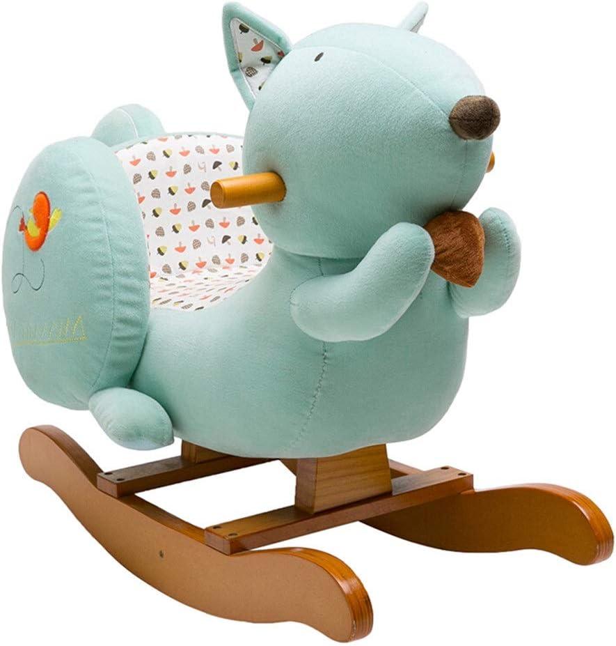 De los niños del caballo de oscilación Caballo de oscilación del bebé muchacho Ride On Toy -Niño Riding Juguete - Hípica por 1-3 años de pie vehículo infantil Caballo con sonido vehículo infantil caba