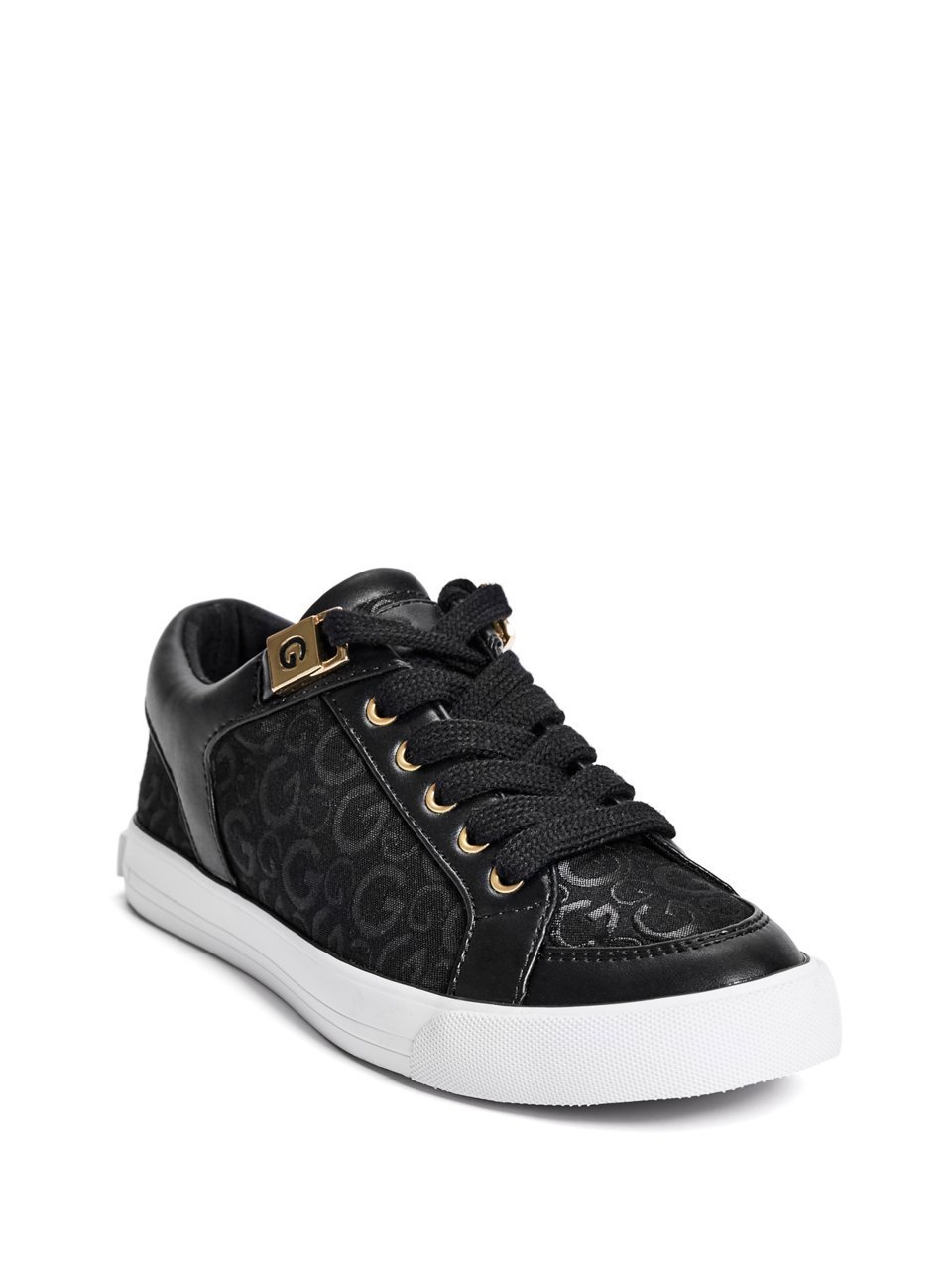 G by GUESS Oryder Logo-Embossed Suede Lace-up Sneakers B0749MRRJ1 8.5 B(M) US|Black Multi Fabric