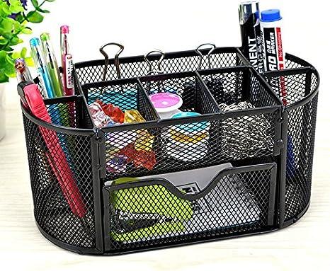 cosanter metal portalápices Malla escritorio escritorio, estable Butler - Lapicero, multifunción, color negro: Amazon.es: Oficina y papelería