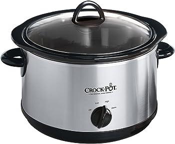 Crock-Pot SCR450 4.5 Qt. Manual Slow Cooker (Silver)