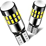 MINYE Super Bright 194 LED Light Bulbs 168 175 2825 W5W T10 30-SMD 3014 Chipsets 6000K White for Car Dome Map Door Courtesy License Plate Lights (Pack of 2)