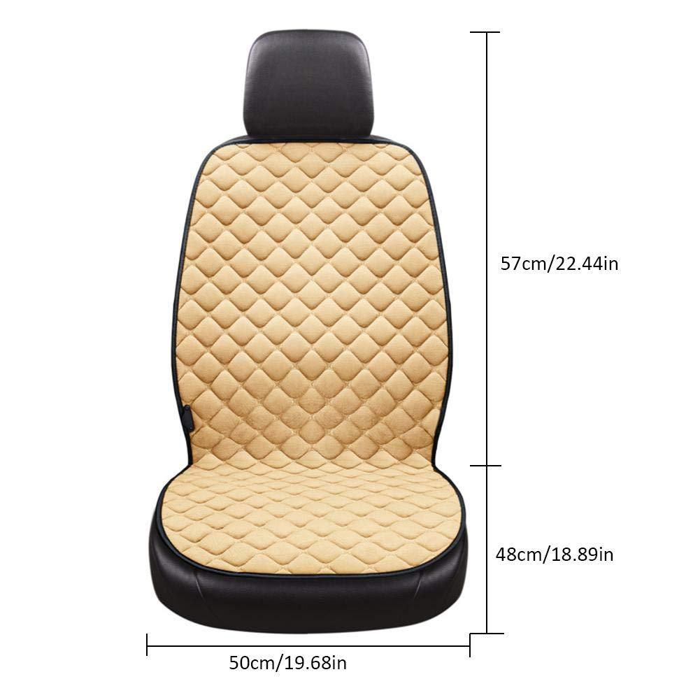 seasaleshop Auto Sitzkissen Beheizbar Sitzauflage Sitzheizung Warm Up Universal Elektrische Heizung Sitzbezug W/ärmer Pad f/ür 12V Zigarettenanz/ünder