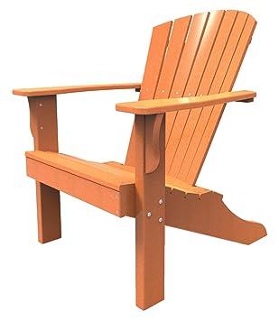 Malibu Outdoor Living Hyannis Adirondack Chair, Tangerine