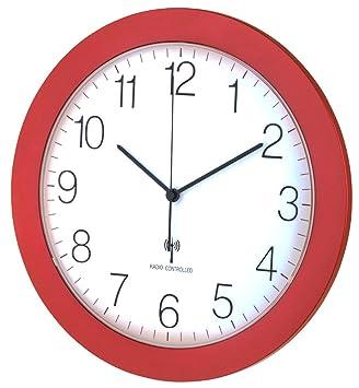 Horloge Murale Radio Pilotée Tfa 60351205 Rouge Métallique