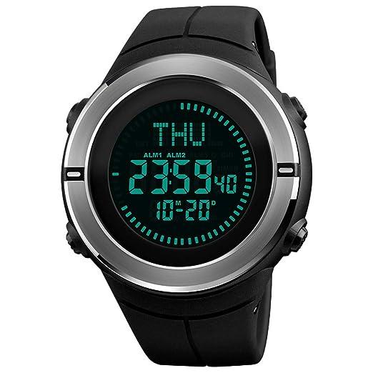 Rosepoem - Relojes electrónicos Relojes Digitales Decoración Deportivo Pantalla Digital Reloj de 2 Colores: Amazon.es: Relojes