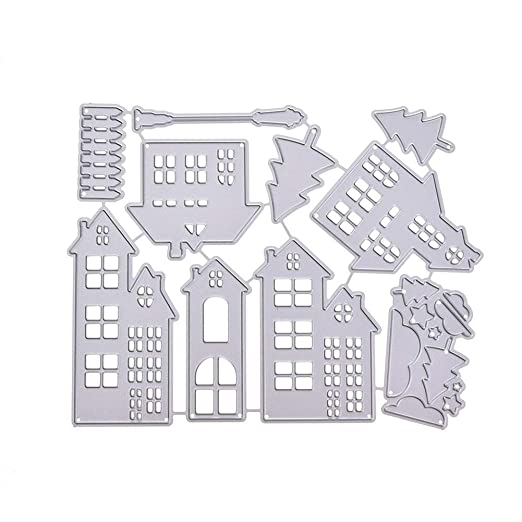 3D Tower Hollow Cutting Dies Stencil DIY Scrapbooking Folder Paper Card Craft