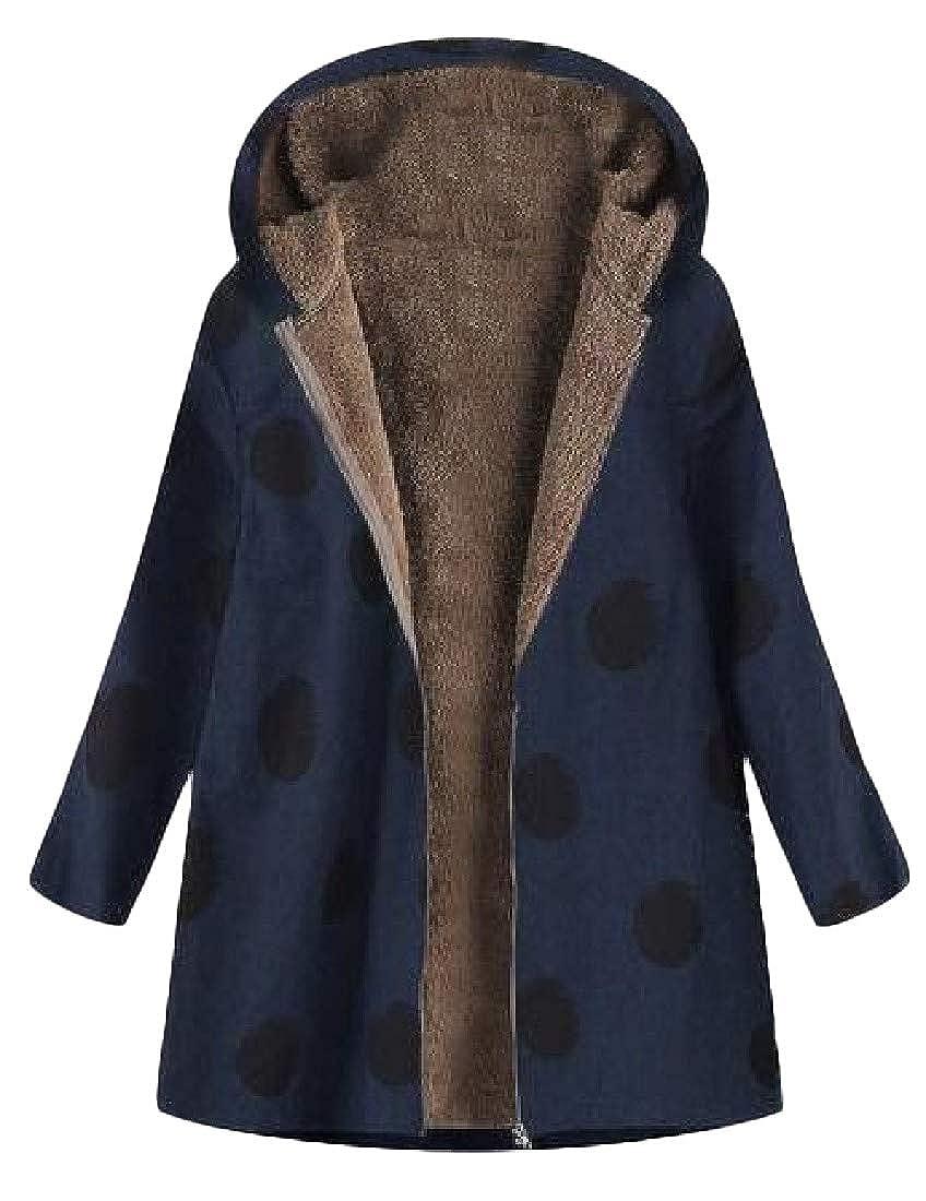 f1a4c75f9998c Cromoncent Women s Outerwear Parkas Coat Hooded Fleece Warm Plus Size  Jackets at Amazon Women s Coats Shop
