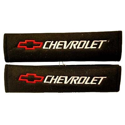Chevrolet Seat Belt Shoulder Pad One Pair Red Logo: Automotive