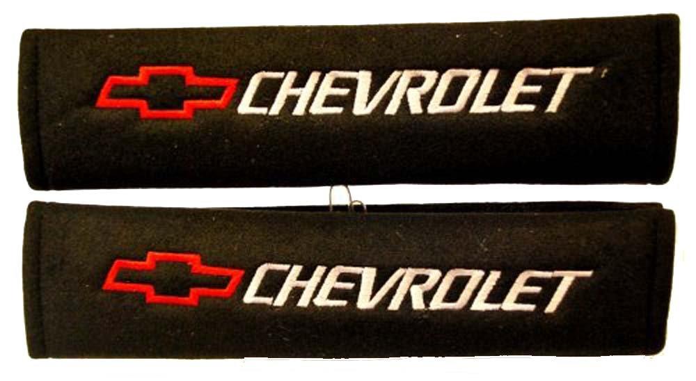 Chevrolet Seat Belt Shoulder Pad One Pair Red Logo