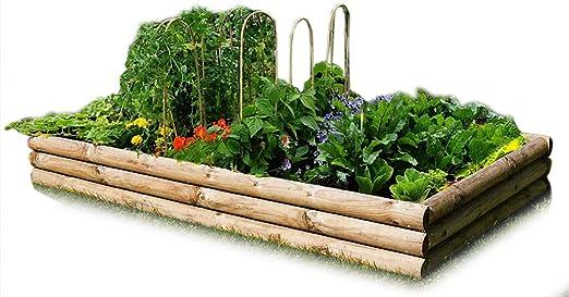 Verduras – Mesa de cultivo de madera para Bancal 240 x 120 cm de ...