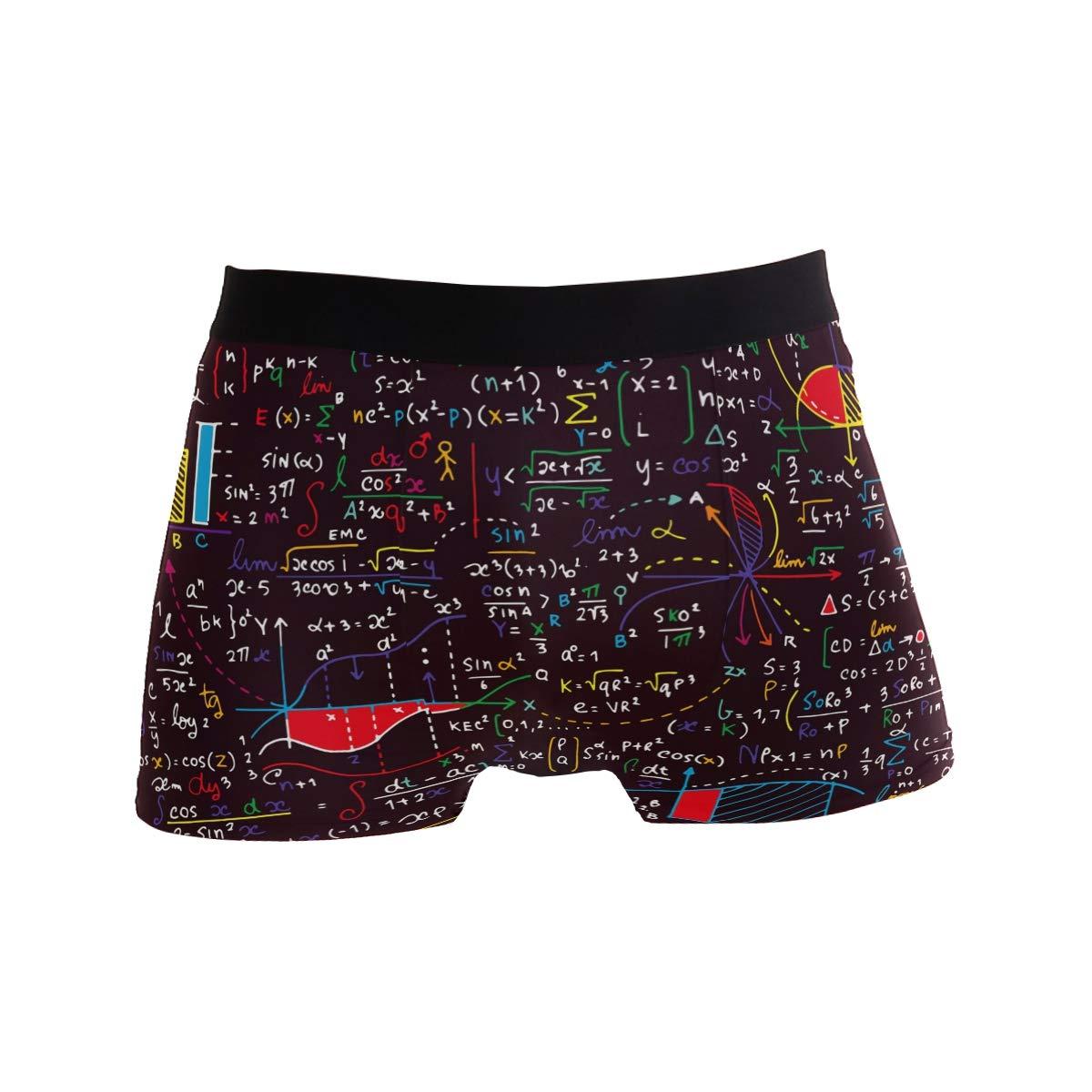 ZZKKO Math Formula Mens Boxer Briefs Underwear Breathable Stretch Boxer Trunk with Pouch S-XL