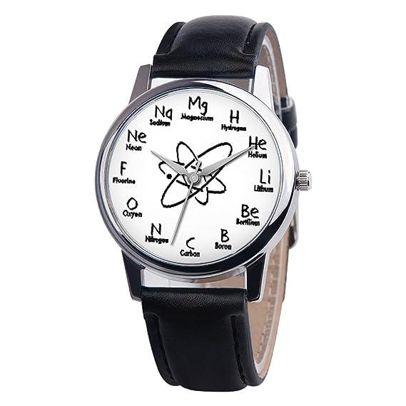 Reloj Frunalte para Mujer, Correa de Piel Unisex de aleación analógica de Cuarzo, Correa