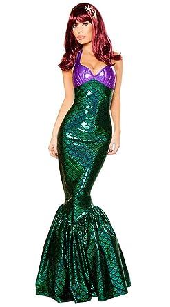 64419de2d9 Amazon.com: Wonder Lingerie Plus Women's Mermaid Temptress Halloween ...