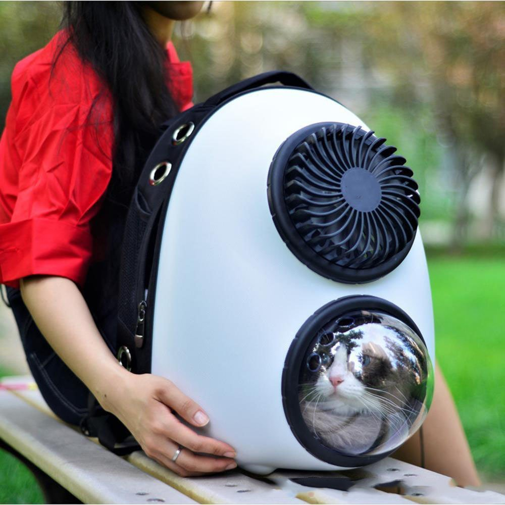 B Dixinla Pet Carrier Backpack Space capsule out of pocket bag 35x28x45cm