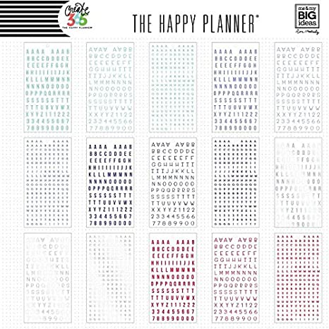me & my BIG ideas PPSV-16 Create 365 The Happy Planner Sticker Value Pack Planner, Alpha