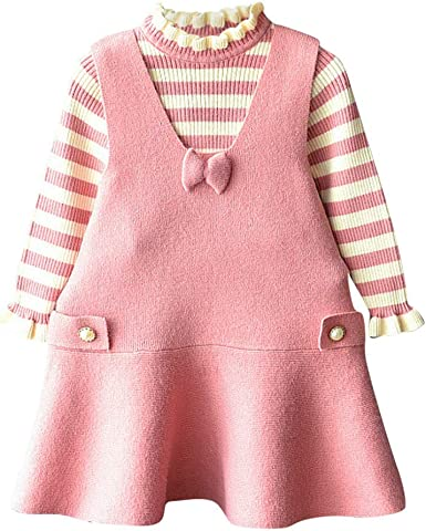 Berimaterry Conjunto de Suéter para Niñas Versión Coreana del ...