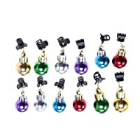 Frcolor Beard ornaments christmas facial clips colorful high gloss decorations for holiday events 30pcs (Assorted Color)