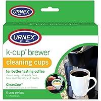 Taza limpia Pack de 5 tazas de limpieza individual Copa de preparado, marrón/verde
