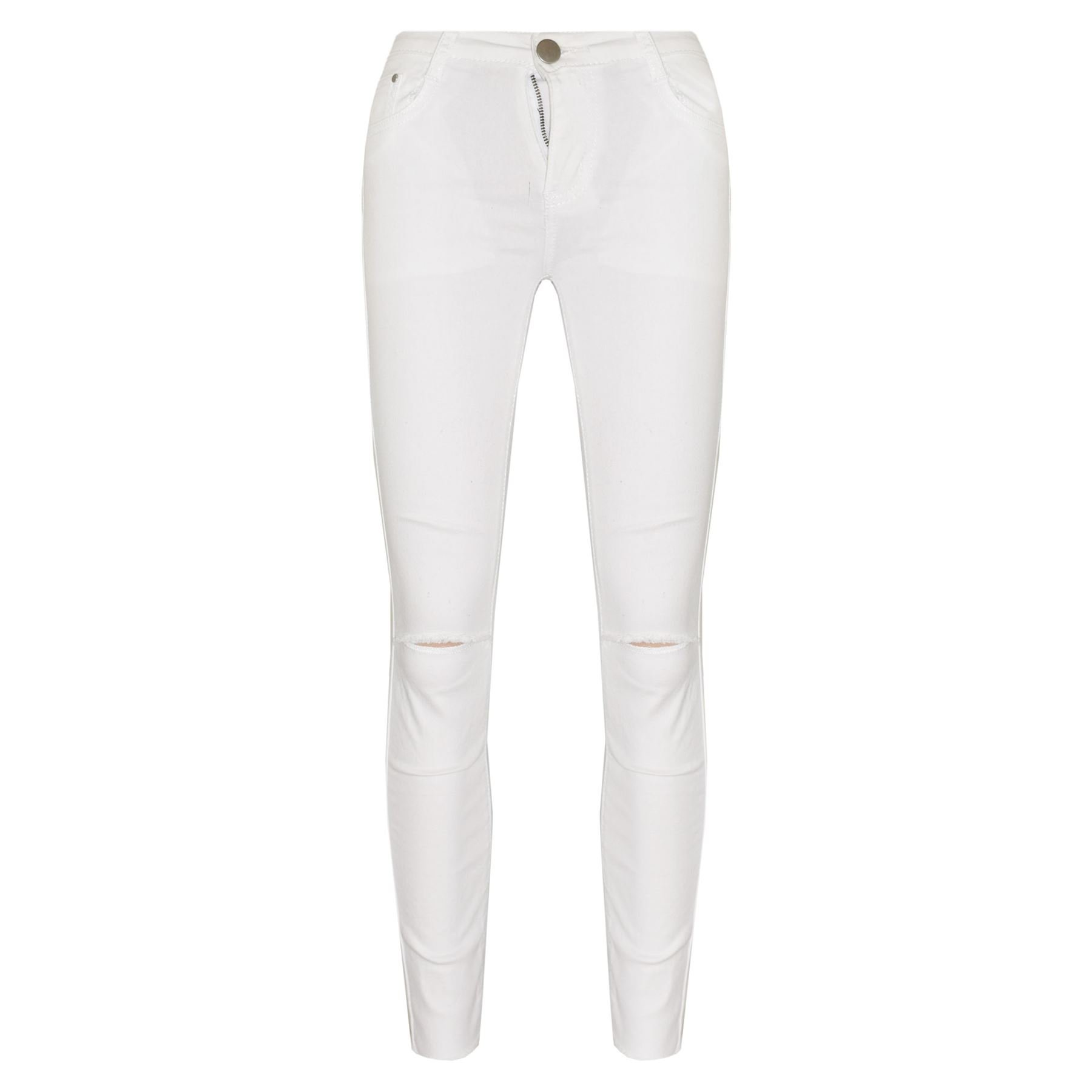 A2Z 4 Kids® Girls Stretchy Jeans Kids White Denim Ripped Pants Frayed Trousers Age 5-13 Year