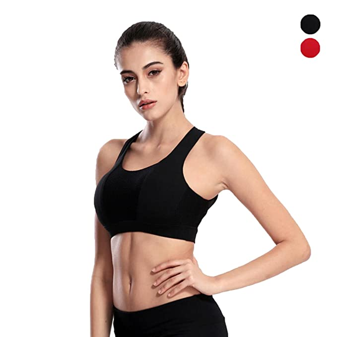 530ce6cfbfd31 Image Unavailable. Image not available for. Color  Women Push up Shockproof  Sports Bra ...