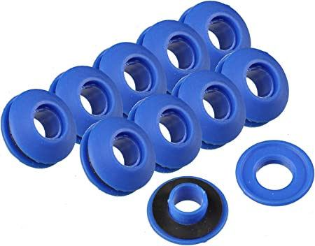 50 Stück Ösen Kunststoff 11 mm: : Garten
