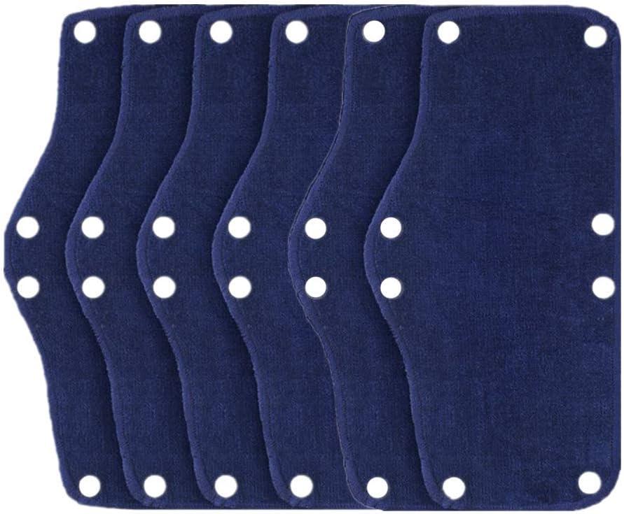 6PCS Hard Hat Sweatband, Cotton Hard Hat Liner, Reusable hardhat sweatbands(Blue)
