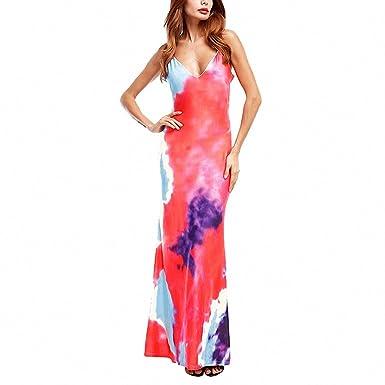 66540424a512 Floral Print Long Maxi Beach Party Dress Summer Women Boho Sexy Strap  Sleeveless Backless Floor Length