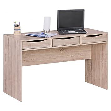 Finebuy Schreibtisch 120 Cm Design Büro Tisch In Sonoma Eiche