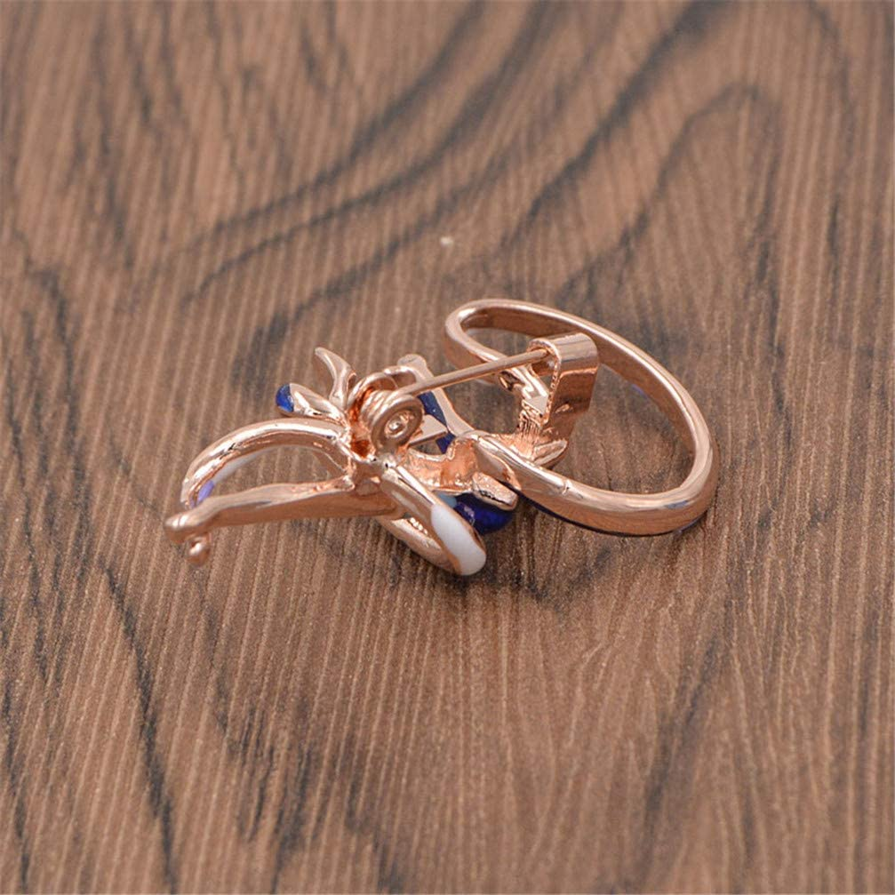GF.DTR Enamel Gymnastic Ribbons Brooches for Women Girl Brooch Pin Gold Color Fashion Jewelry
