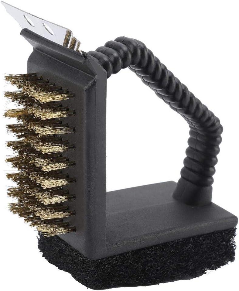 Pasamer Cepillo Limpiador Multifuncional de Limpieza Horno de Barbacoa de Acero Inoxidable Duradero Multifuncional 3 en 1