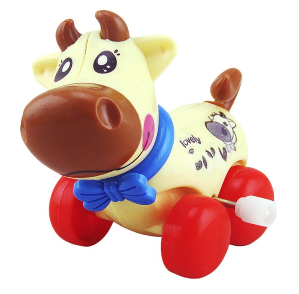 Buyby 1PC Wind Up Toys Kid Baby Lovely Cow