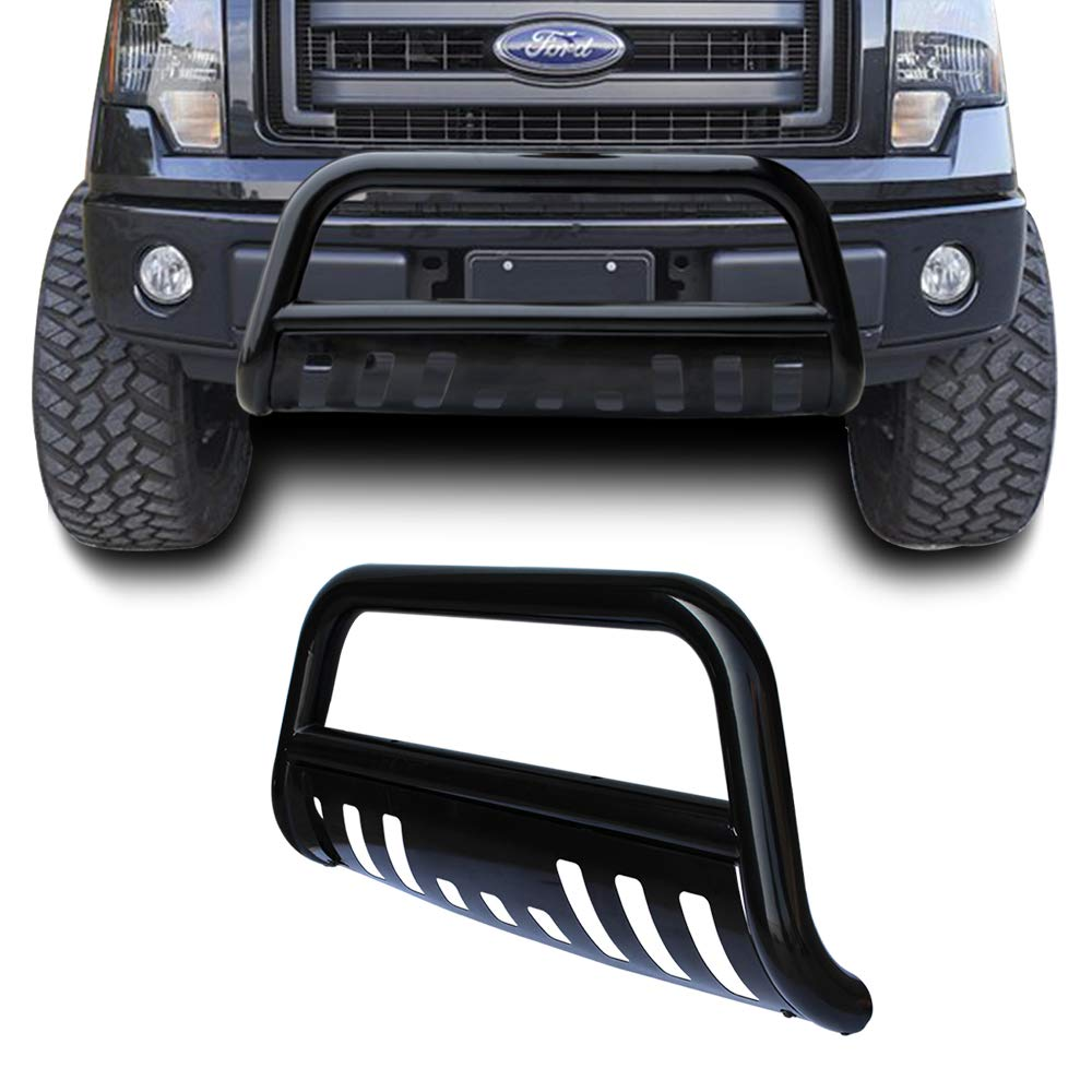 DNA MOTORING BURB-041-BK Stainless Steel 3 Bull Bar Front Bumper Grill Push Brush Guard