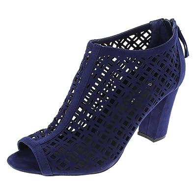 6a852a7bf6db Steve Madden Madden Girl Womens Brax Open Toe Pumps Blue 9.5 Medium ...