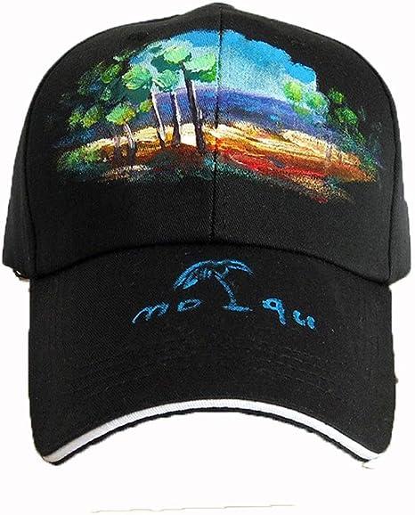 Somviermz Gorra de béisbol ajustable de algodón pintado Sombrero ...