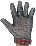 UltraSource 441040-L Stainless Steel Mesh Glove, Wrist Length Cuff with Replaceable Strap, Size Large, Each