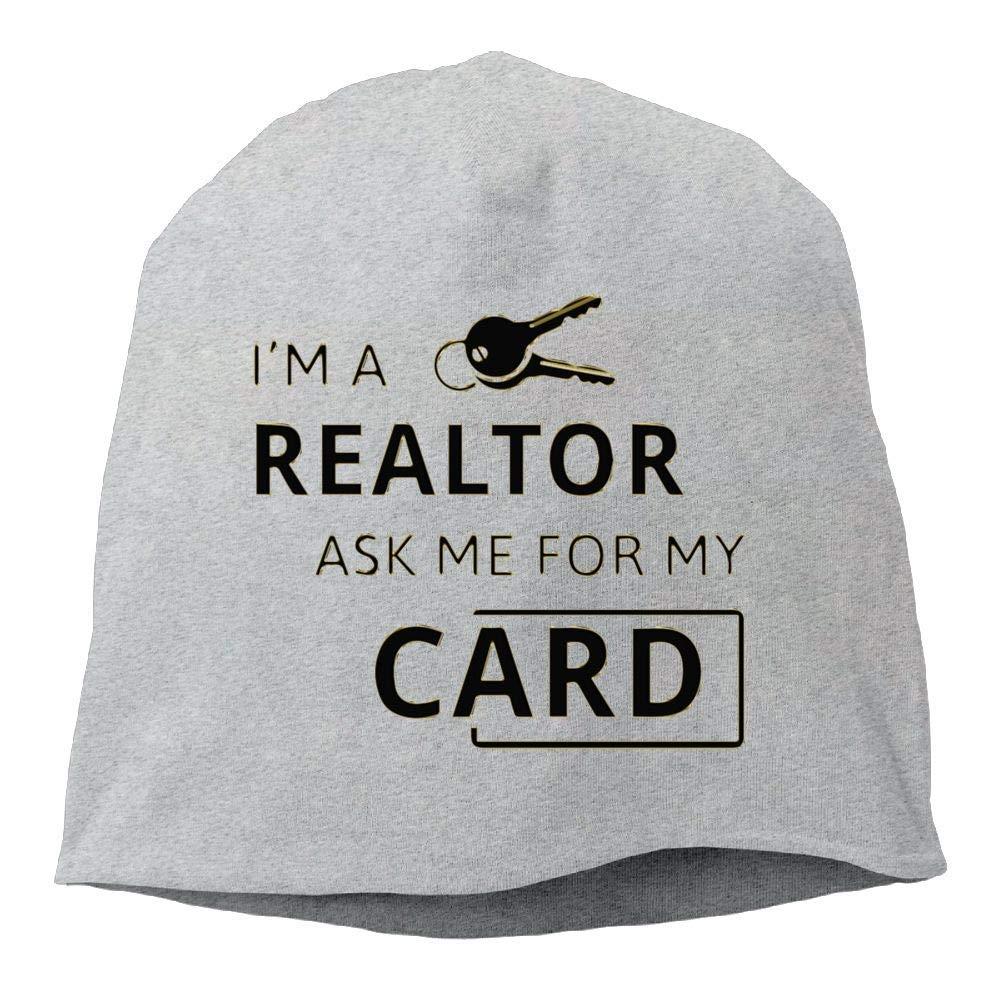 Real Estate Realtor Winter Beanie Skull Cap Warm Knit Ski Slouchy Hat Durable