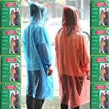 Leberna TM Disposable Poncho One Size Fit All with Attached Hood 20 Per Pack Assorted Color