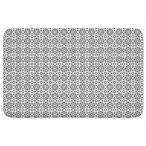 Islamic Tile Memory Foam Bath Mat: Large by uneekee