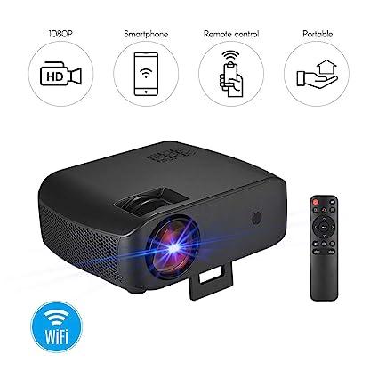 Leslaur - Proyector LED portátil para cine en casa (50.000 horas ...