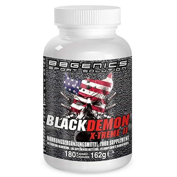 BBGenics, BlackDemon X-Treme II, T-Booster, maca de calidad, arginina, Tribulus, zinc, hierro, cromo, vitamina B2, B6, C, 180 cápsulas: Amazon.es: Salud y ...