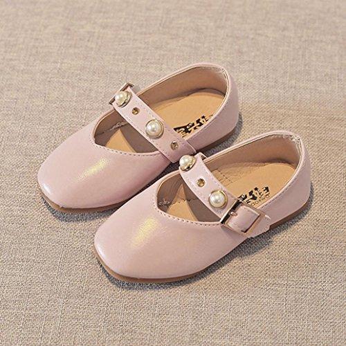 BZLine® Kinder Mädchen Baby Perlen Prinzessin Sandalen einzigen Casual Schuhe Pink