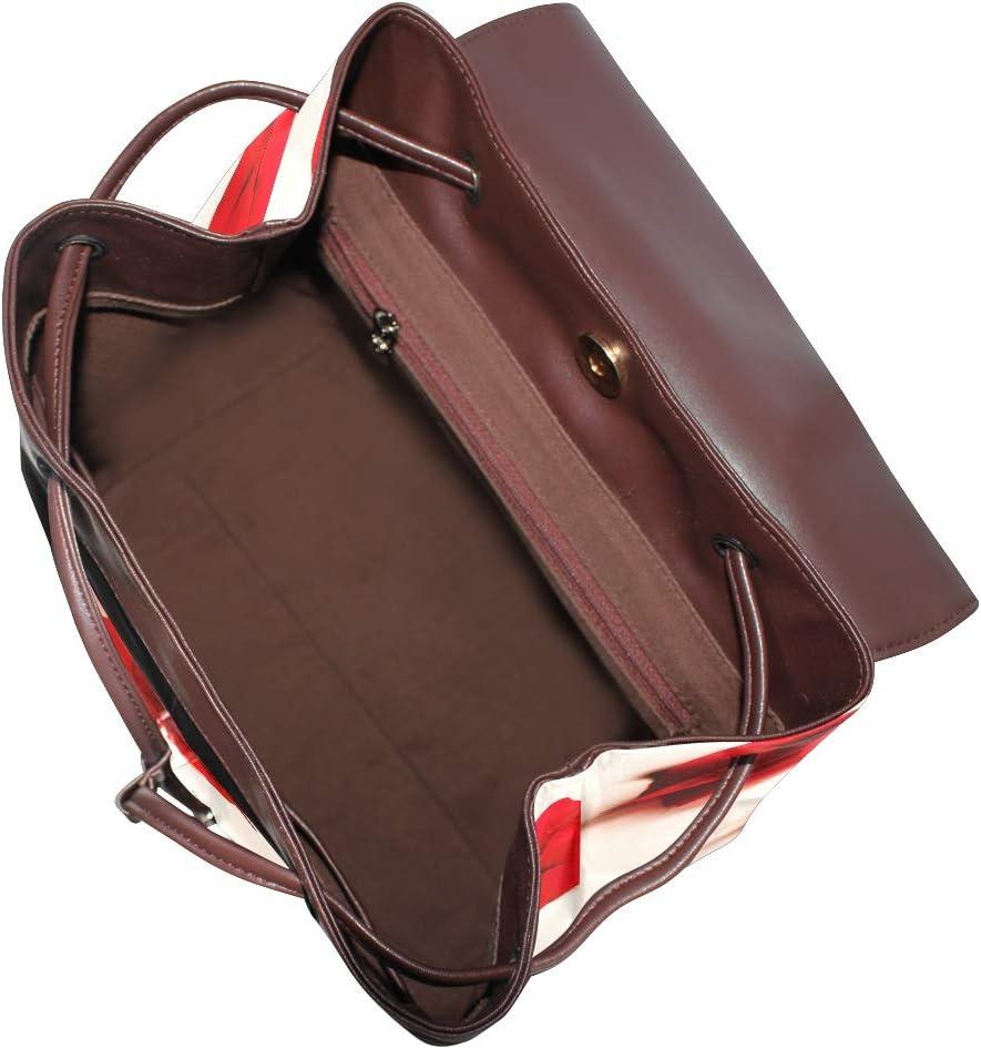 School Bag Travel Bag Shopping Bag Storage Bag For Men Women Girls Boys Personalized Pattern Red Leaf Backpack